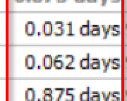 Duration in Days only ?